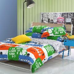 多喜爱家纺 音乐驿站时尚床品纯棉单人床单三件套1.2米床