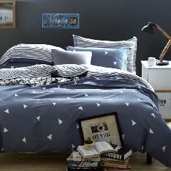南极人家纺套件高支高密被套床单全棉床上用品斜纹印花双人四件